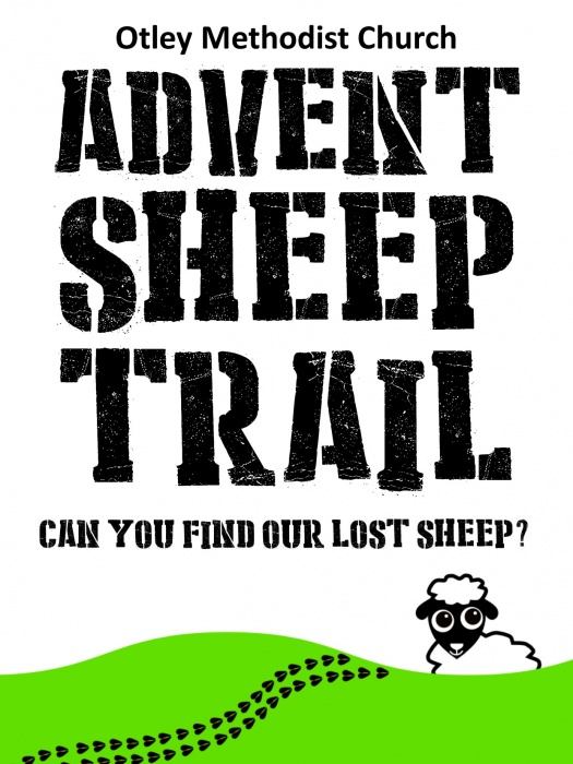 advent sheep trail poster