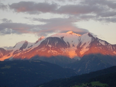 Alps at sunset